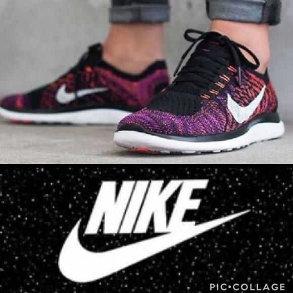 6807078acf4b Nike Free 4.0 Flyknit running shoe fuchsia black. M 5a46c12d3b1608e6ea12bdca